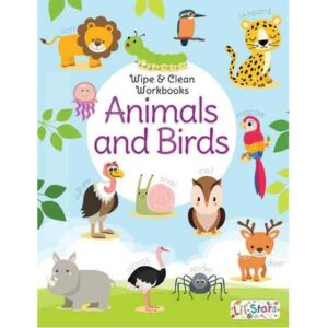 Wipe & Clean Workbook- Animals & Birds